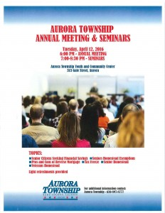 Annual Town Meeting Flyer